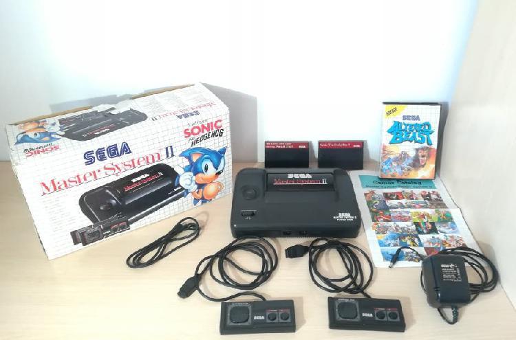 Consola master system ii y 3 juegos