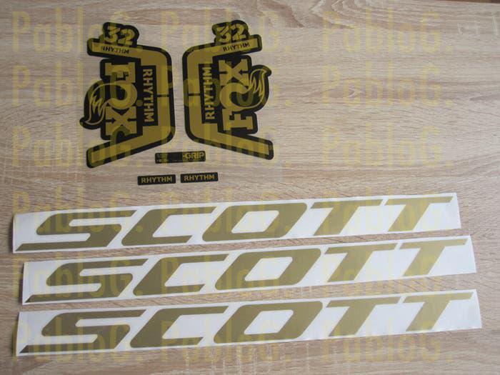 Fox 32 rhythm horquilla scott vinilos adhesivos or
