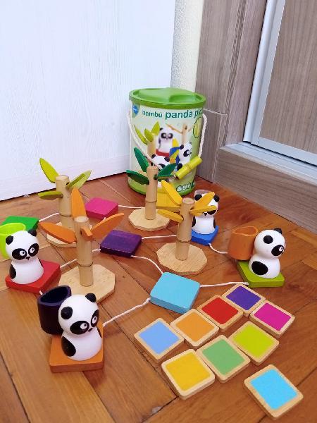 Juego de madera panda pink