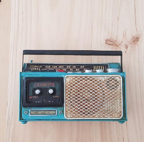 Nuevo!! radio casette decoración retro