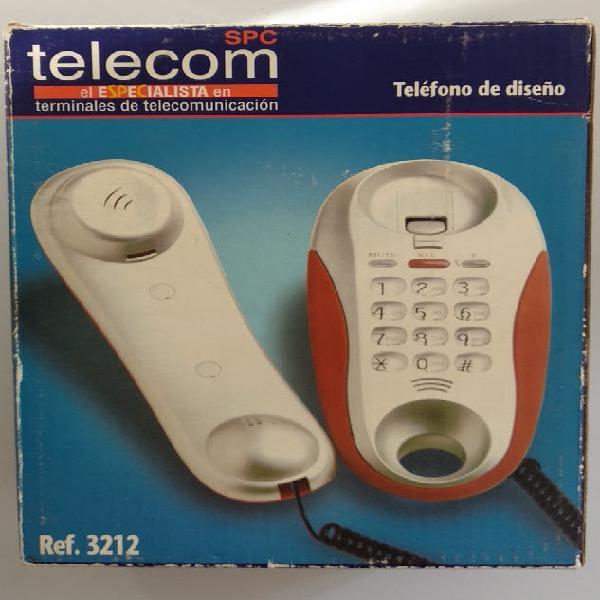 Teléfono fijo centratila con botón rojo