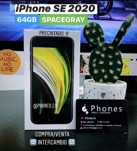 Iphone se 2020 64gb negro precintado (tienda)