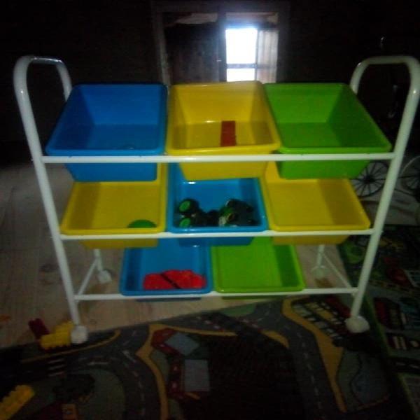 Mueble organizador juguetes niños