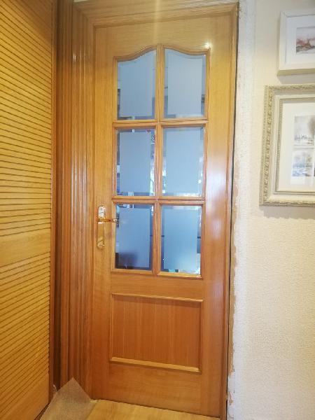 Puertas madera roble macizo con cristal