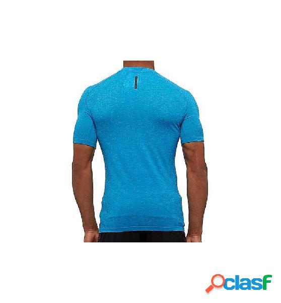 Camiseta running adidas pknit tee m azul l
