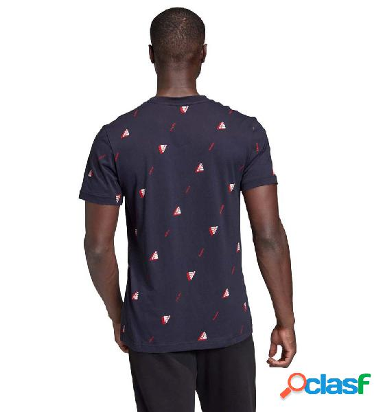 Camiseta m/c casual hombre adidas mhe tee gfx 2 azul marino m