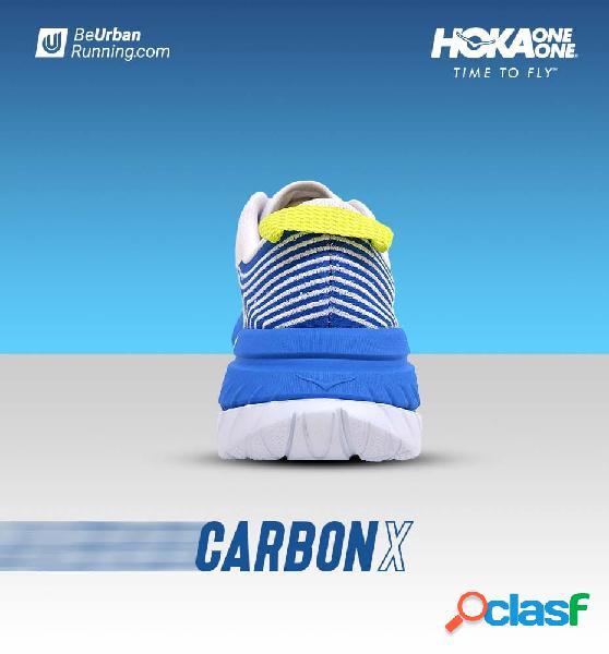 Zapatillas running w hoka carbon x 40 blanco