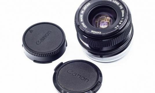 Canon fd 28mm. f2.8 sc silver ring