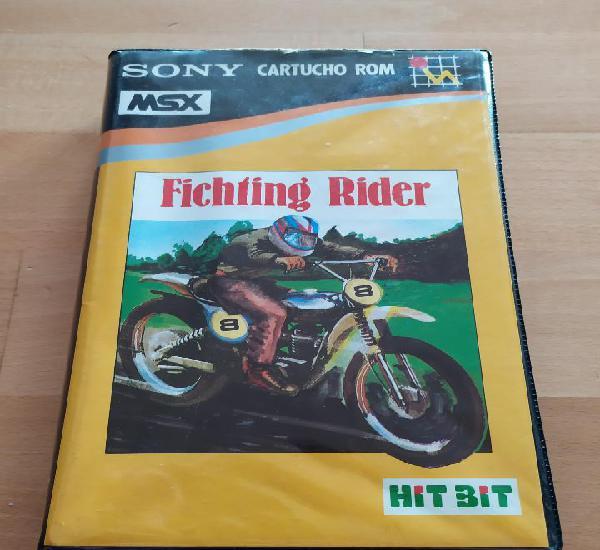 Juego completo cartucho msx msx2 fichting rider sony spain