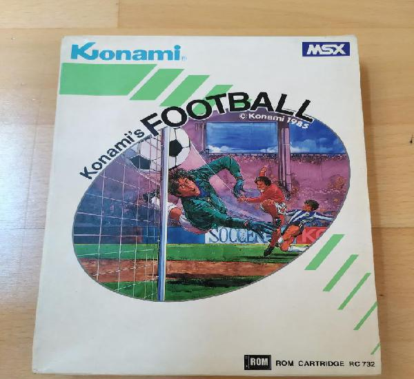 Juego completo cartucho msx msx2 konami´s football konami