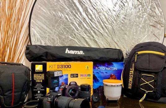 Nikon d3100 más 5 accesorios