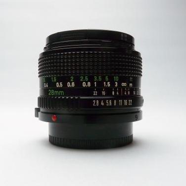 Objetivo gran angular canon fd 28 mm f/2.8