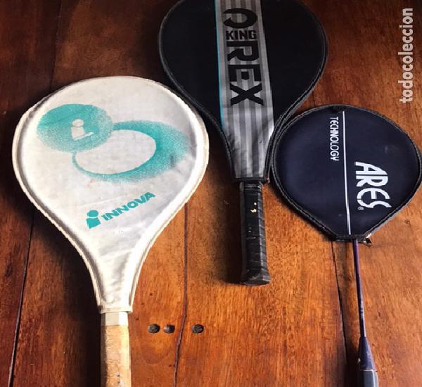 Raquetas tenis innova y kingrex y regalo otra de badminton