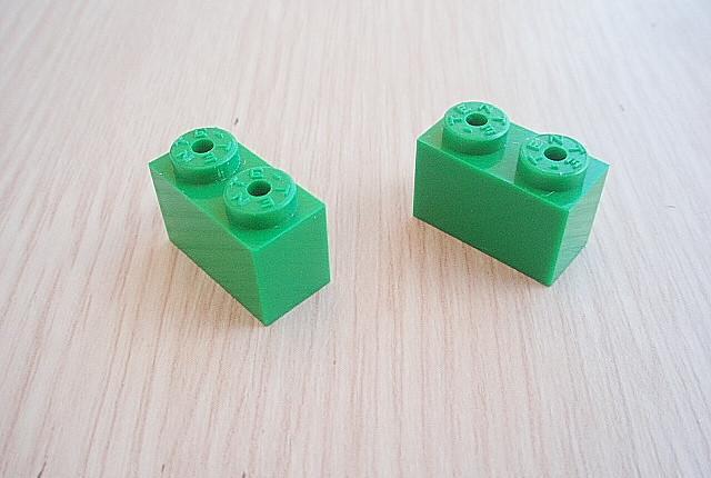 Tente bloque 1x2. color verde fuerte