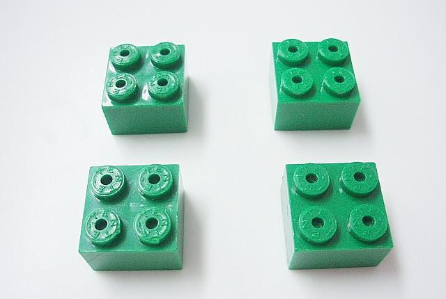 Tente bloque 2x2. color verde fuerte