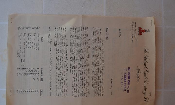1938 bicicletas raleigh presentación del programa de