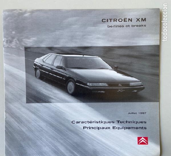 1997 catálogo de caracteristicas tecnicas citroën xm