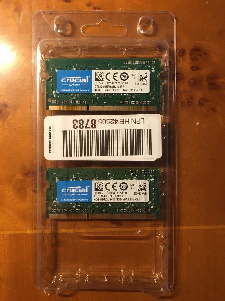 8gb (2x4gb) ram ddr3 macbook imac mac mini