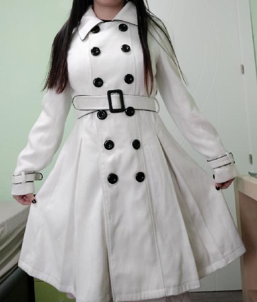 Abrigo largo blanco s