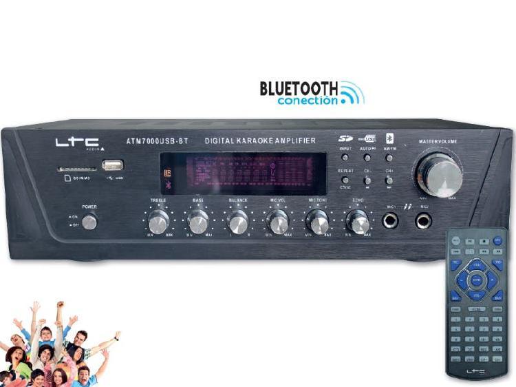 Amplificador karaoke usb/sd, bluetooth