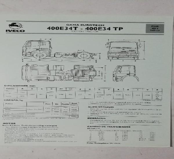 Camión iveco pegaso ficha técnica camión tractor 400e34t