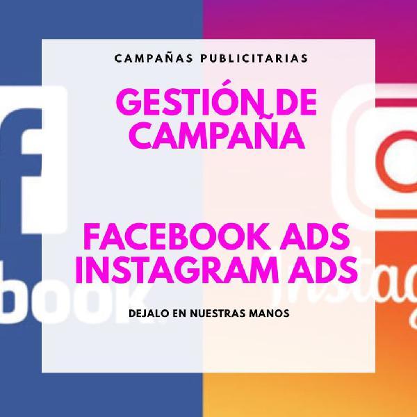 Campañas instagram ads y facebook ads