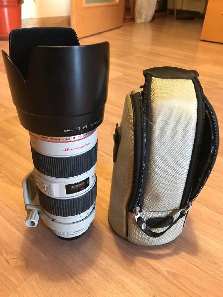 Canon 70-200mm f2.8l is usm con estabilizador