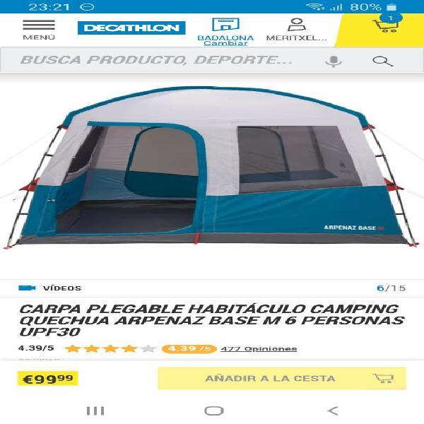 Carpa plegable habitaculo camping