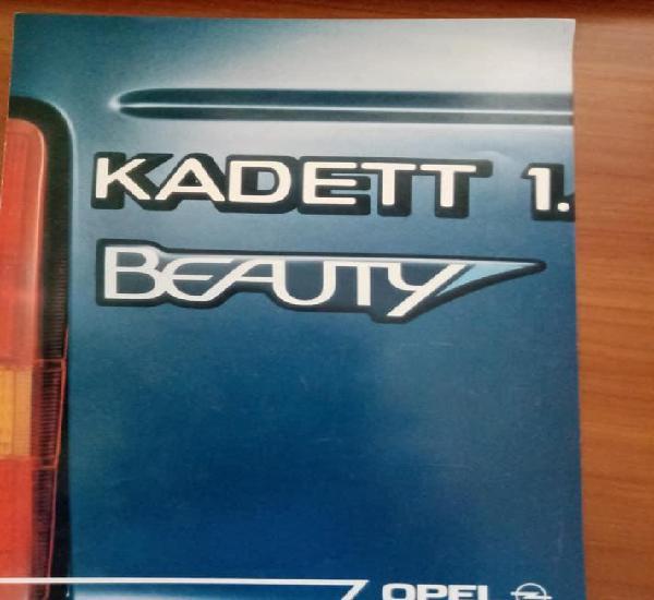 Catálogo de opel kadett beauty.