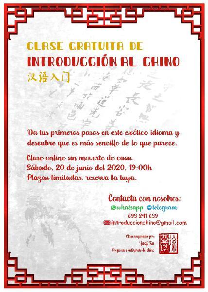 Charla gratuita del idioma chino