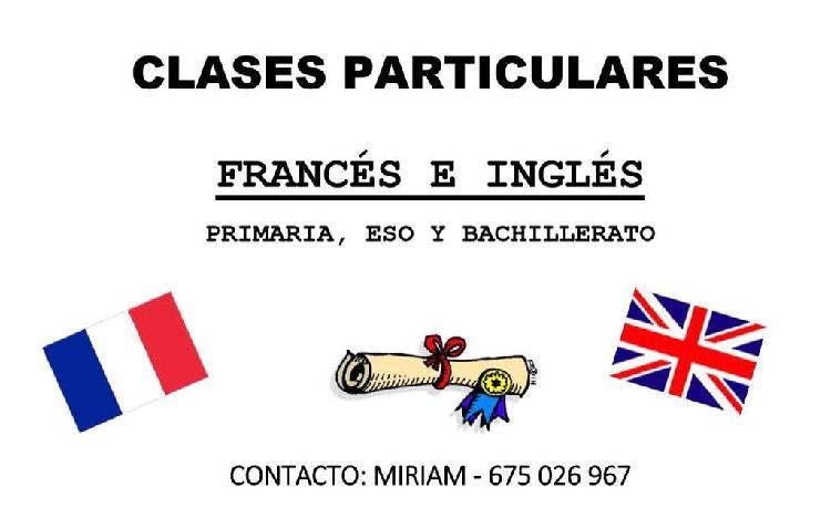 Clases particulares francés e inglés
