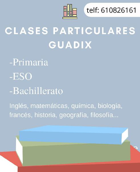 Clases particulares guadix