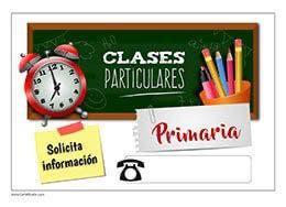 Clases particulares, infantil y primaria