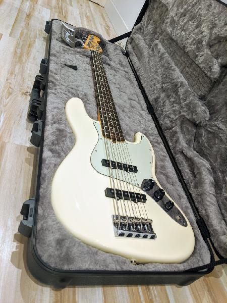 Fender american jazz bass professional v olympic w