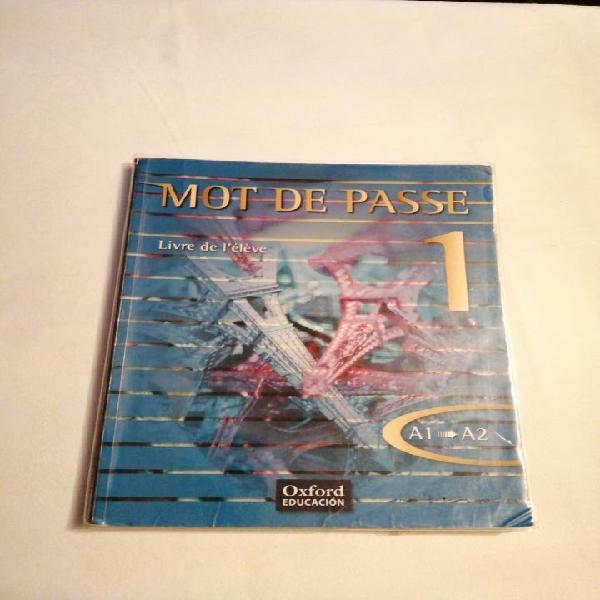 Libros de francés. mot de passe 1