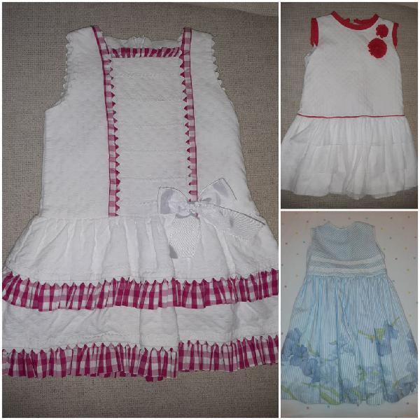 Loto 3 vestidos niña 4-5 años