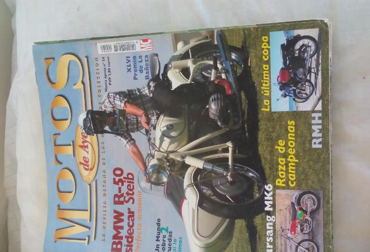 Motos de ayer. nº 54. motos clásicas de colección. bmw
