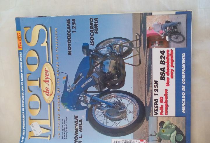Motos de ayer. nº 66. motos clásicas de colección.