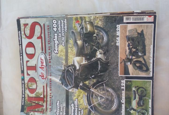 Motos de ayer. nº 84. motos clásicas de colección.