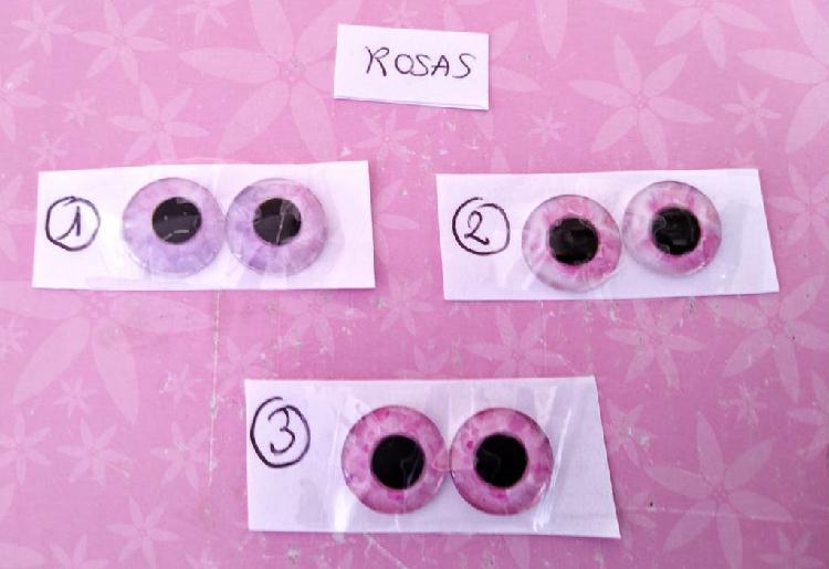 Ojos de cristal en rosa de muñeca blythe