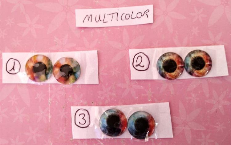 Ojos de cristal multicolor muñeca blythe