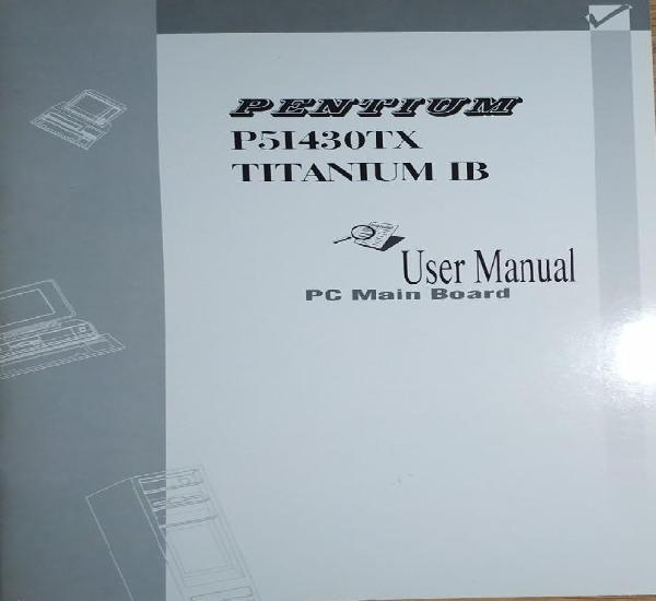 Pentium p51430tx titanium ib user manual pc main board