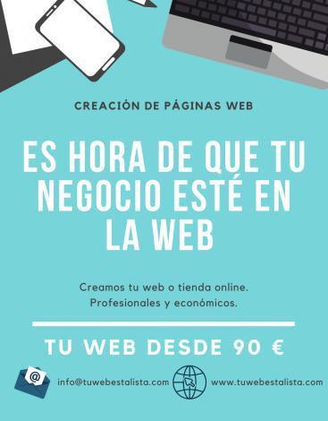 Páginas web baratas