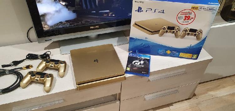 Playstation 4 slim edición limitada gold