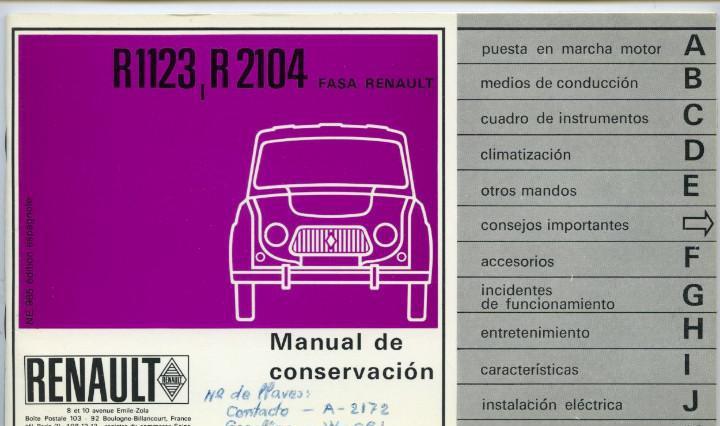 Renault 4l manual de conservación 1967