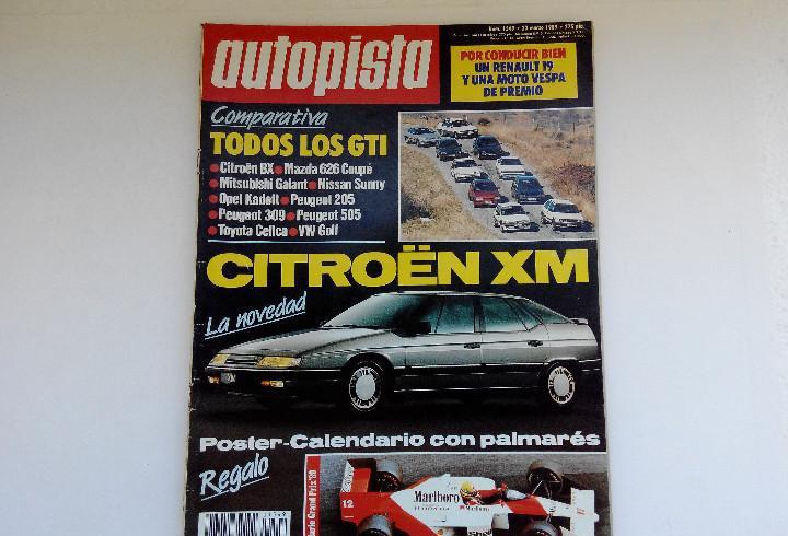 Revista autopista nº 1549 - año 1989 - todos los gti - 205