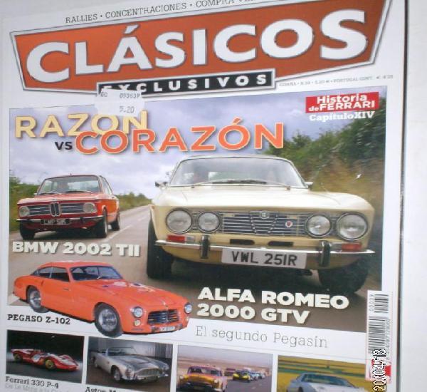 Revista clasicos exclusivos nº39 2009 alfa 2.0 gtv,bmw 2002