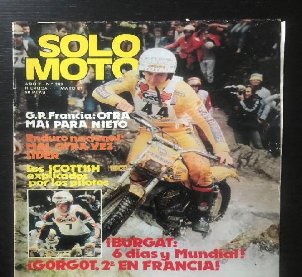 Solo moto nº 286 - trial 6 dias escocia montesa cross 250