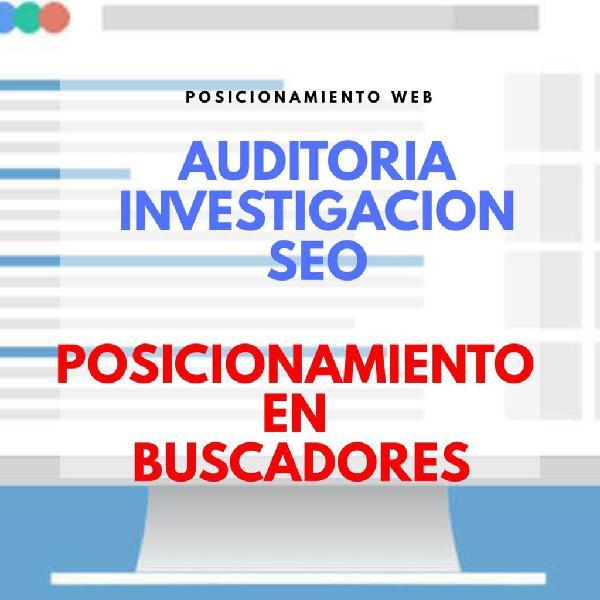 Servicio seo auditorias posiciónamiento web