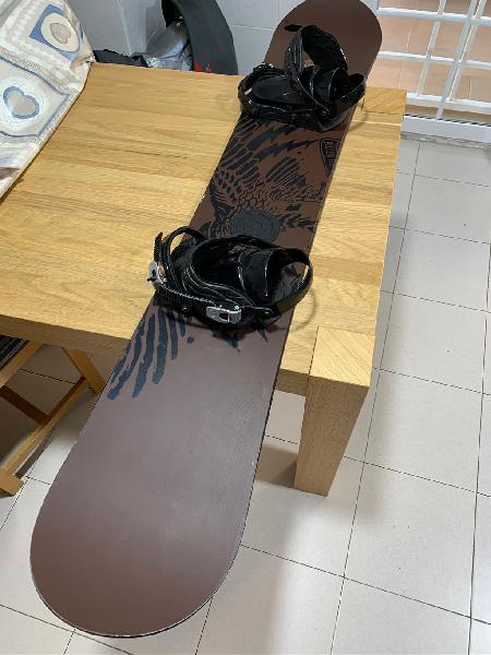 Tabla snowboard nitro + fijaciones +funda+mochila